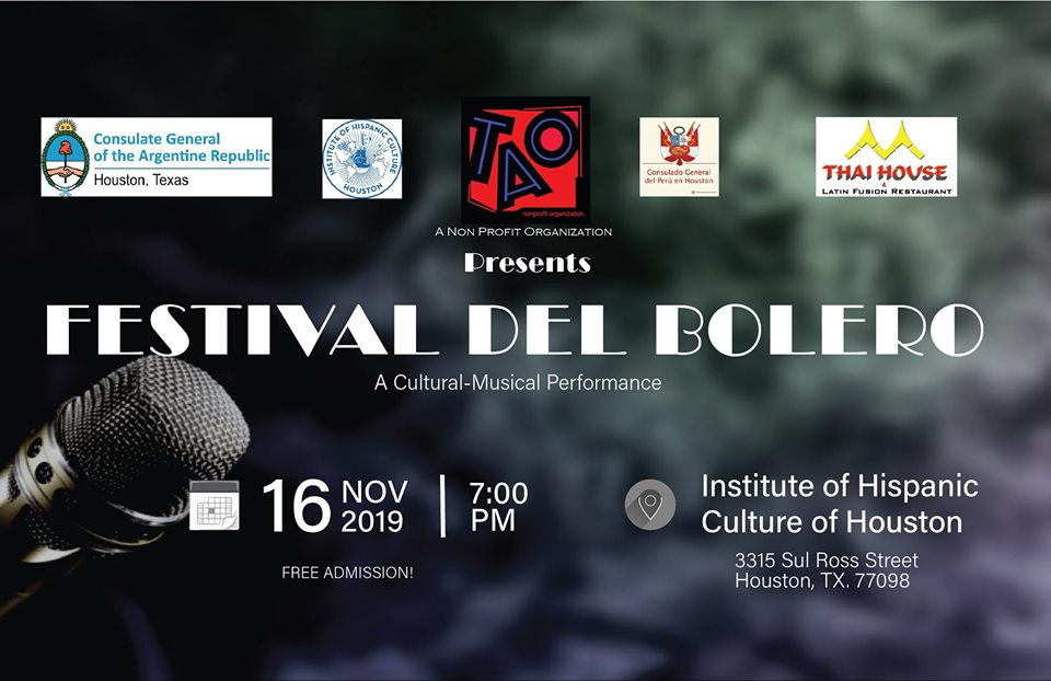 Festival del Bolero @ Institute of Hispanic Culture of Houston