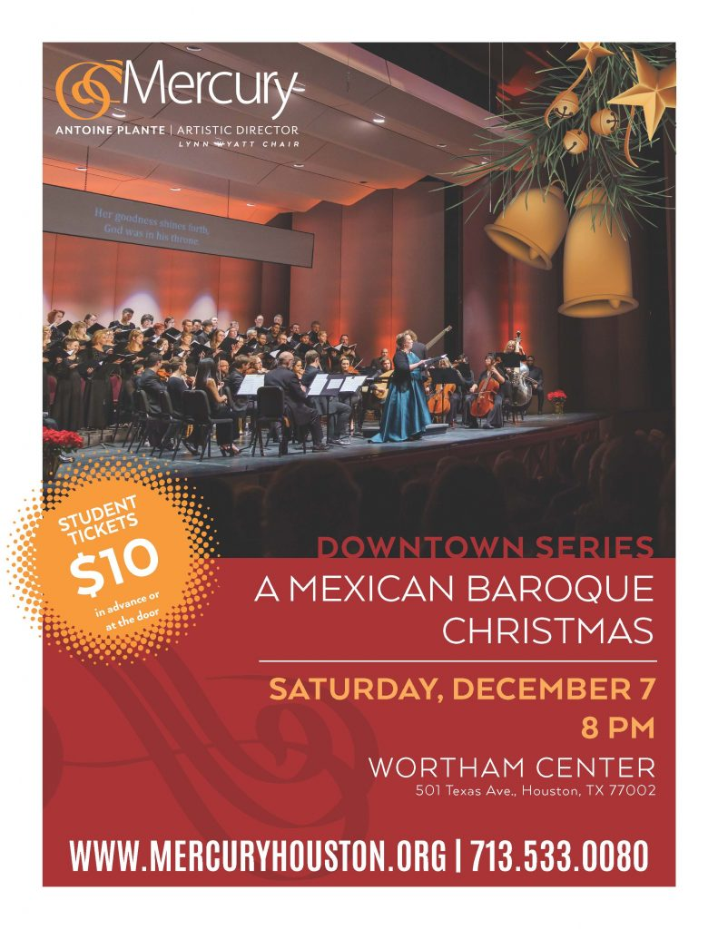 Mercury's A Mexican Baroque Christmas @ WORTHAM CENTER IN DOWNTOWN
