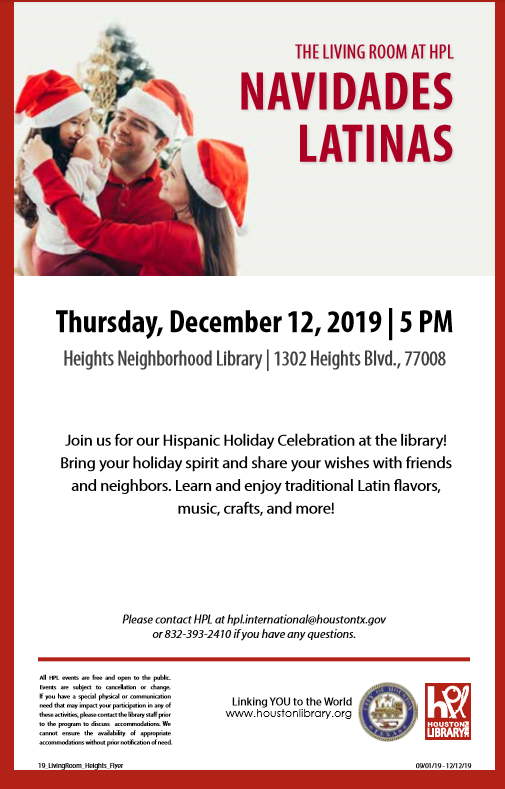 Navidades Latinas @ Heights Public Library